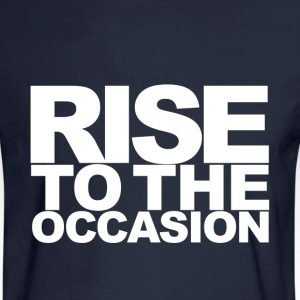 Rise to the Occasion Navy and White - Men's Long Sleeve T-Shirt