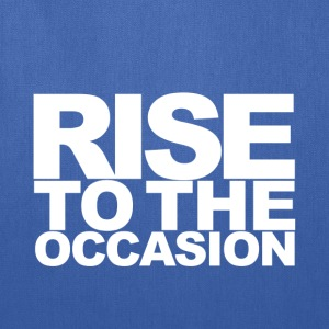 Rise to the Occasion Blue and White - Tote Bag