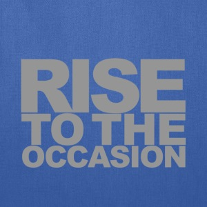 Rise to the Occasion Navy and Silver - Tote Bag
