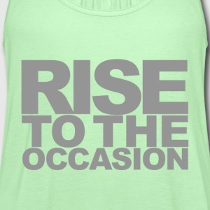 Rise to the Occasion Green and Silver - Women's Flowy Tank Top by Bella
