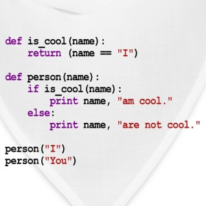 Python Code - I am cool, You are not cool T-Shirts - Bandana