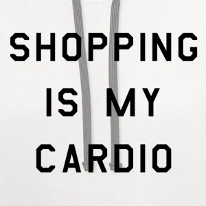 Shopping is my cardio (2) - Contrast Hoodie