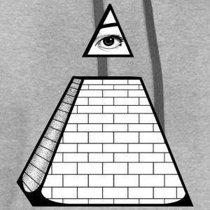 All Seeing Pyramid T-Shirts - Contrast Hoodie