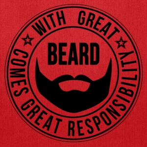 with great beard comes great responsibility - Tote Bag