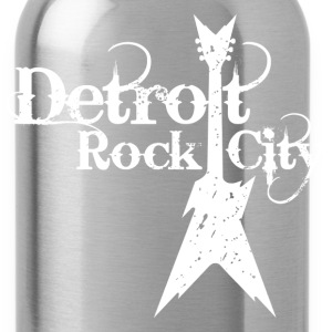 DETROIT ROCK CITY white Women's T-Shirts - Water Bottle