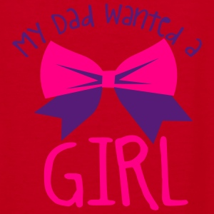 My dad wanted a girl and a bow cute! Zip Hoodies & Jackets - Women's V-Neck T-Shirt