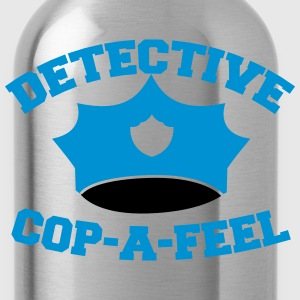 Funny DETECTIVE police man hat COP-A-FEEL Zip Hoodies & Jackets - Water Bottle