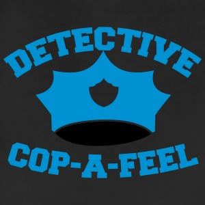 Funny DETECTIVE police man hat COP-A-FEEL Zip Hoodies & Jackets - Leggings