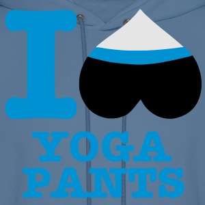I Heart Yoga Pants! - Men's Hoodie