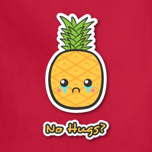 sad but cute pineapple that does not get any hugs Women's T-Shirts - Adjustable Apron