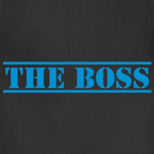 THE BOSS in stencil funny Caps - Adjustable Apron
