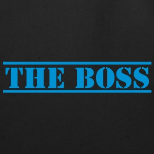 THE BOSS in stencil funny Caps - Eco-Friendly Cotton Tote
