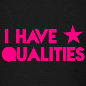 I HAVE STAR stars QUALITIES! in pink Caps - Men's T-Shirt