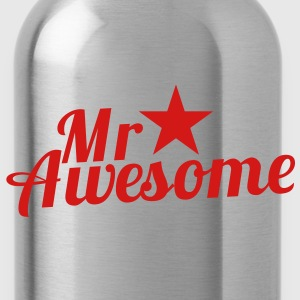 MR AWESOME with a sexy RED star Caps - Water Bottle