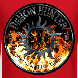 Demon hunter protection Symbal Ring Patch Flames 5 Kids' Shirts - Crewneck Sweatshirt