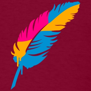 A colorful feather Hoodies - Men's T-Shirt
