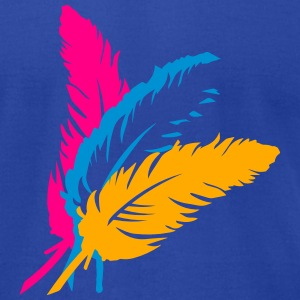 Three colorful feathers Tanks - Men's T-Shirt by American Apparel