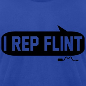 I Rep Flint Hoodies - Men's T-Shirt by American Apparel