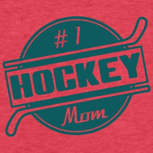 #1 Hockey Mom Tanks - Fitted Cotton/Poly T-Shirt by Next Level