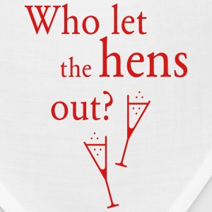 Who let the hens out? (Hen Party) Women's T-Shirts - Bandana
