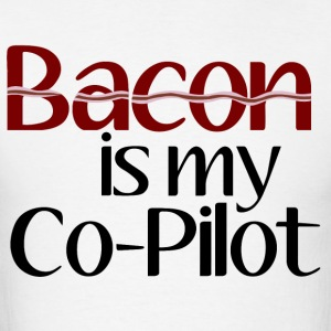 Bacon is my Co-Pilot Hoodies - Men's T-Shirt