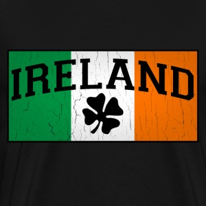 Vintage IRISH Flag - Men's Premium T-Shirt
