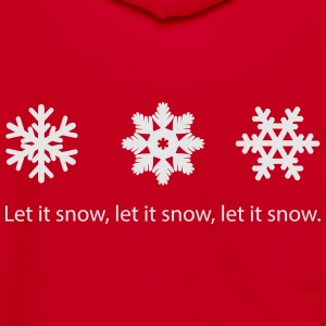 Let It snow. - Unisex Fleece Zip Hoodie by American Apparel
