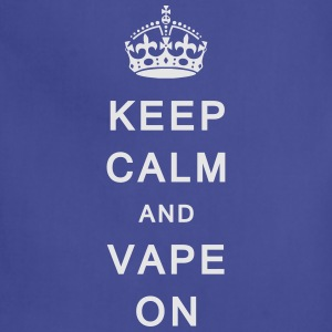 'Keep Calm & Vape On' Men's T-Shirt - Adjustable Apron