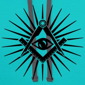 Masonic symbol, all seeing eye, freemason T-Shirts - Contrast Hoodie