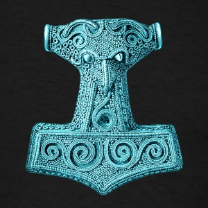 Original Thors Hammer, Asgard, Odin, Mjolnir Hoodies - Men's T-Shirt
