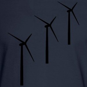 3 wind turbines T-Shirts - Men's Long Sleeve T-Shirt