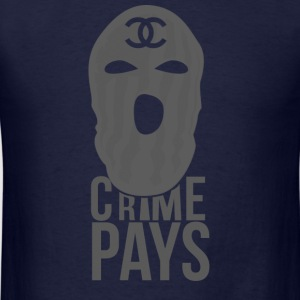 crime pays-black colorways.png Long Sleeve Shirts - Men's T-Shirt