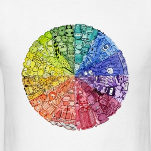 color wheel doodle Hoodies - Men's T-Shirt