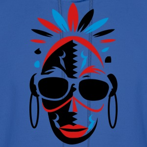 African mask with sunglasses T-Shirts - Men's Hoodie