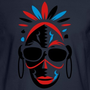 African mask with sunglasses T-Shirts - Men's Long Sleeve T-Shirt
