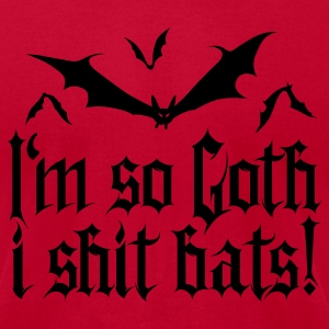 I'm so goth I shit Bats 1.2 Long Sleeve Shirts - Men's T-Shirt by American Apparel
