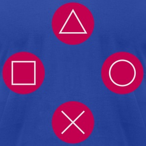 Square, cross, circle, triangle Zip Hoodies/Jackets - Men's T-Shirt by American Apparel