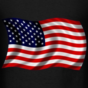 USA flag fluttering Bags  - Men's T-Shirt