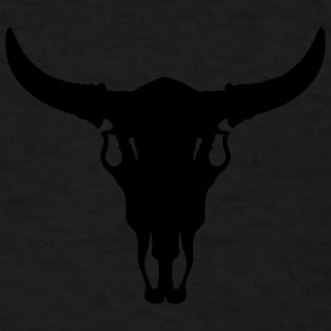 Cow/Bull Skull Caps - Men's T-Shirt
