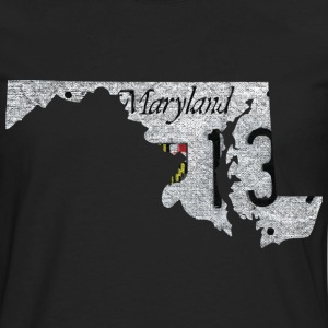 Maryland State License Plate Hoodies - Men's Premium Long Sleeve T-Shirt