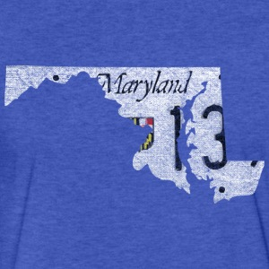 Maryland State License Plate Sweatshirts - Fitted Cotton/Poly T-Shirt by Next Level