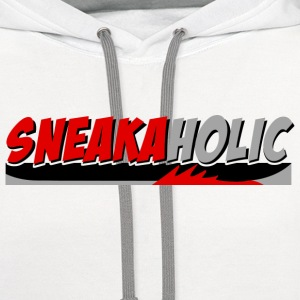 sneakaholic-fire-red.png T-Shirts - Contrast Hoodie