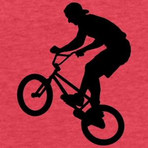 Cool BMX Rider  Tanks - Fitted Cotton/Poly T-Shirt by Next Level