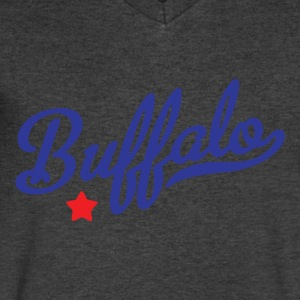 Buffalo Long Sleeve Shirts - Men's V-Neck T-Shirt by Canvas