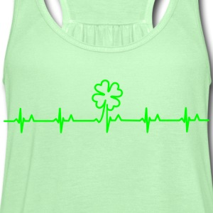 four-leafed clover beat (1c) T-Shirts - Women's Flowy Tank Top by Bella