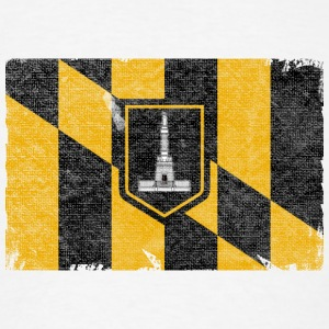 Baltimore Flag Distressed Accessories - Men's T-Shirt