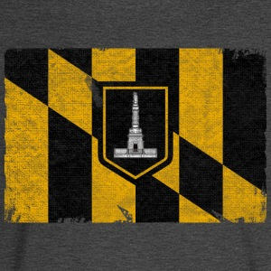 Baltimore Flag Distressed Women's T-Shirts - Men's Long Sleeve T-Shirt