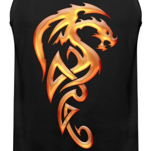 Golden Tribal Dragon Women's T-Shirts - Men's Premium Tank
