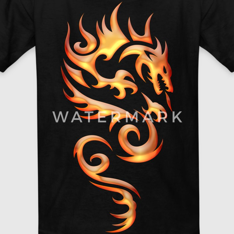 Tribal Fire Dragon Kids' Shirts - Kids' T-Shirt