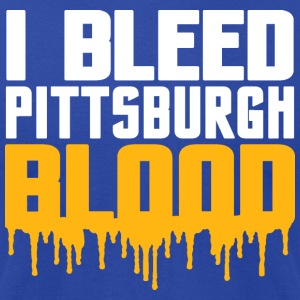 I Bleed Pittsburgh Blood Hoodies - Men's T-Shirt by American Apparel